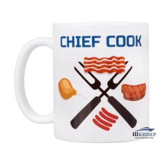 "Чашка ""CHIEF COOK"", Белый"